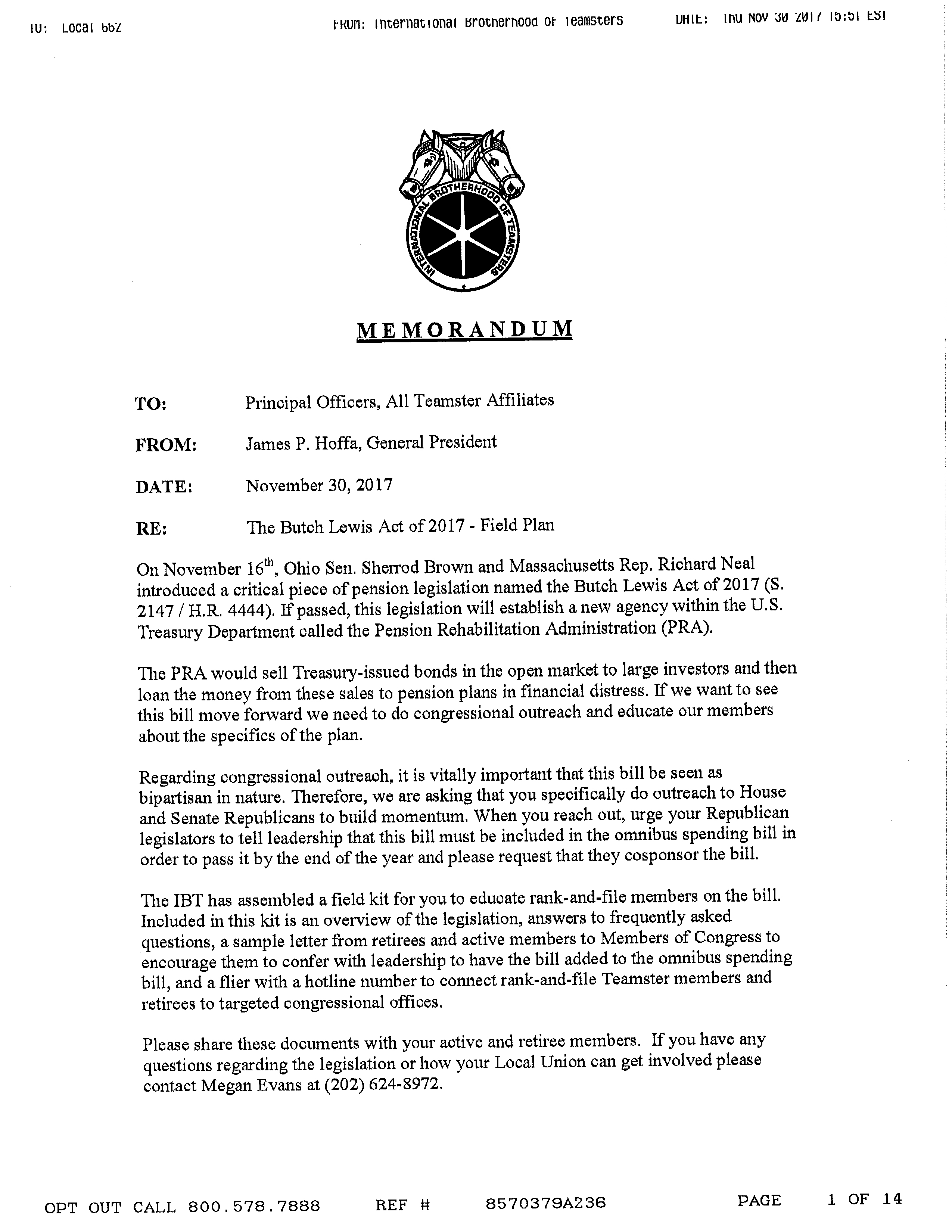 Teamsters Local 662